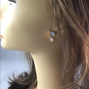 Anne Klein Iridescent Matte Gold Earrings